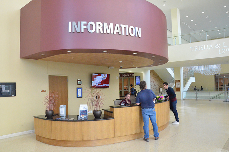 A look at an information desk